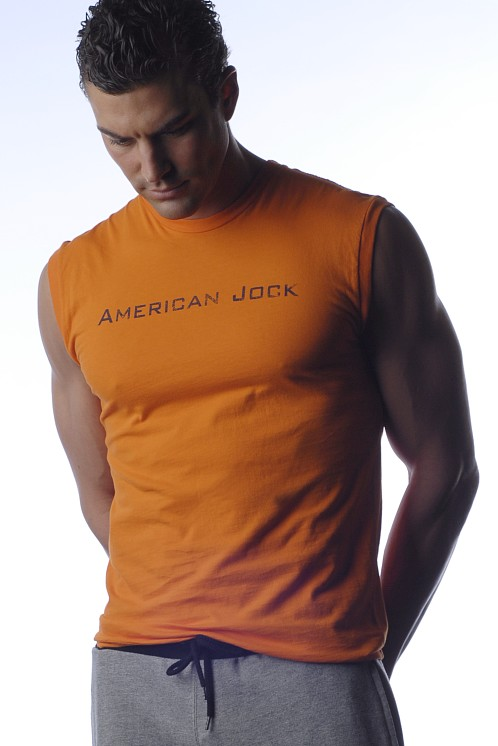 American Jock Muscle Tee Orange