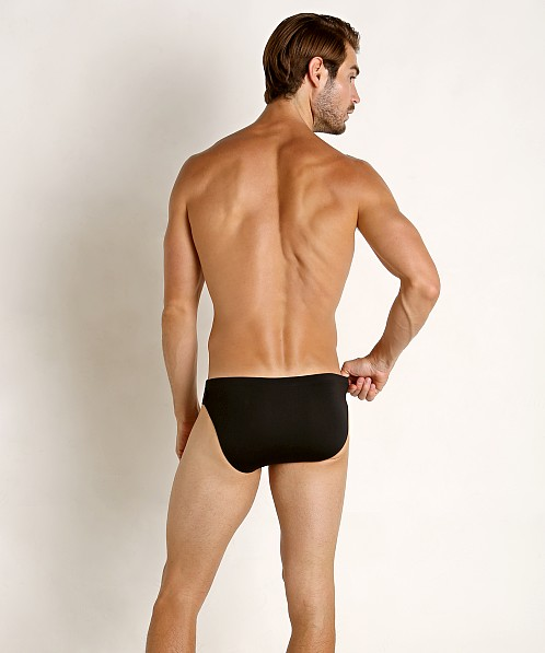 "Jack Adams Racer Icon 1"" Swim Brief Black"