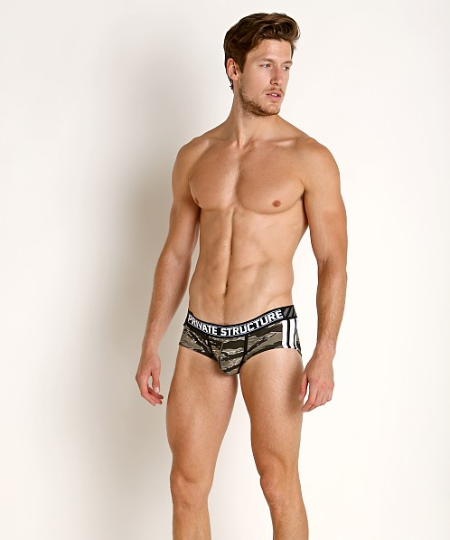 Private Structure Soho Camou Hipster Brief Grey Camouflage