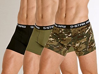 G-Star Classic Stretch Jersey Trunks 3-Pack Khaki/Sage/Black