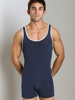 Pistol Pete Speed Wrestling Singlet Navy