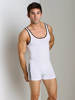 Pistol Pete Speed Wrestling Singlet White
