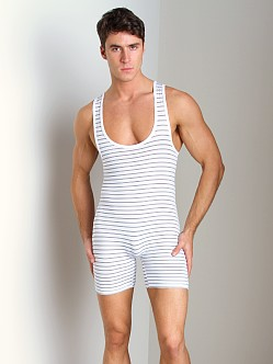 Pistol Pete Chromatic Wrestling Singlet White