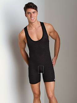 Pistol Pete Chromatic Wrestling Singlet Black