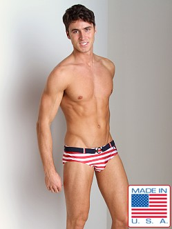 Pistol Pete Nautical Swim Brief Red/White