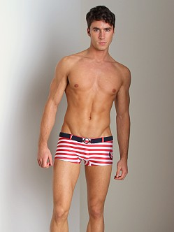 Pistol Pete Nautical Swim Trunk Red/White