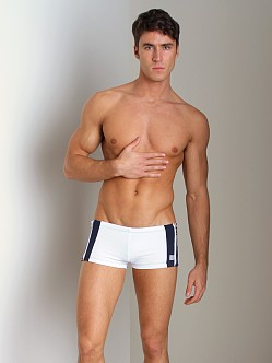 Pistol Pete Zipline Swim Trunk White/Navy