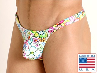 Model in floral glow Rick Majors Low Rise Swim Thong