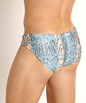 Rick Majors Low Rise Swim Brief Blue Snake, view 4