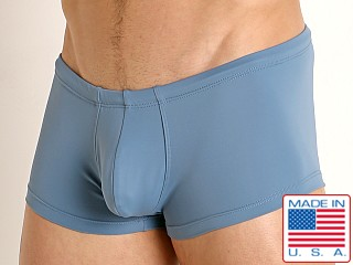 Model in jean Rick Majors Low Rise Swim Trunk