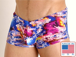 Model in glo flo Rick Majors Low Rise Swim Trunk