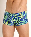 Rick Majors Low Rise Swim Trunk Blue Sativa, view 3