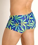 Rick Majors Low Rise Swim Trunk Blue Sativa, view 4