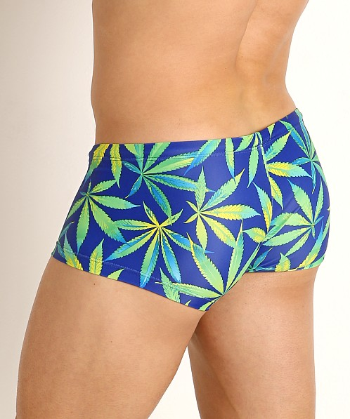 Rick Majors Low Rise Swim Trunk Blue Sativa