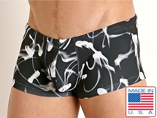 Rick Majors Low Rise Swim Trunk Black Smoke