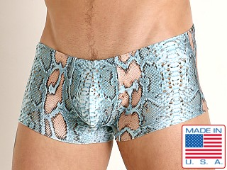 Rick Majors Low Rise Swim Trunk Blue Snake