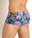 Rick Majors Low Rise Swim Trunk Fluorescent Flowers, view 4