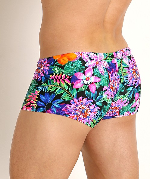 Rick Majors Low Rise Swim Trunk Fluorescent Flowers