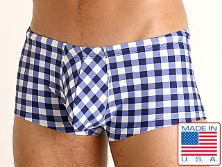 Rick Majors Low Rise Swim Trunk Blue Picnic