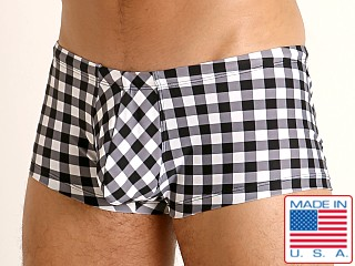 Model in black picnic Rick Majors Low Rise Swim Trunk