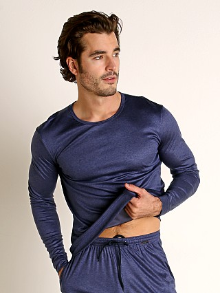 Model in sapphire Olaf Benz Pearl 2057 Luxury Modal Lounge Shirt