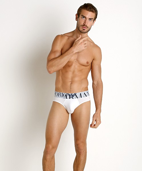 Emporio Armani Mega Logo Brief White