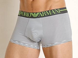 Emporio Armani Microfiber Sailor Trunk White/Anthracite