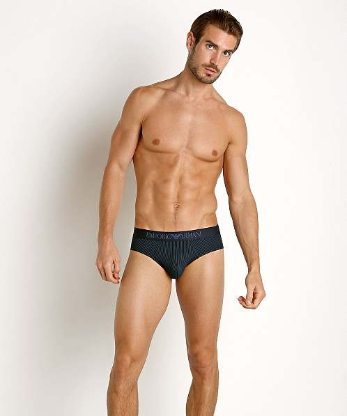 Emporio Armani Pattern Mix Brief Marine Stripe