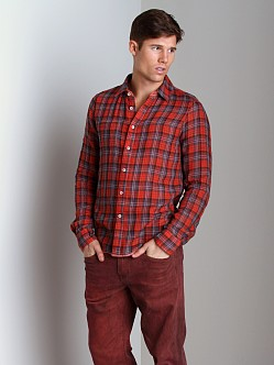 Joe's Jeans Reversible Relax Shirt Red Plaid