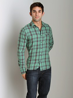 Joe's Jeans Relax Seam Pocket Shirt Sea Green