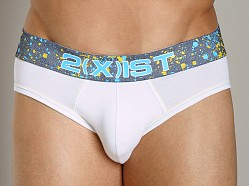 2xist Splash No-Show Brief White