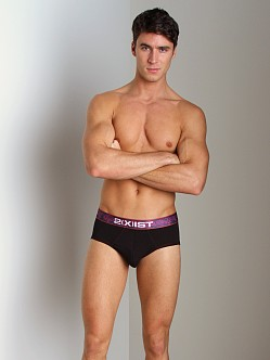 2xist Valentines Day Contour Pouch Brief Black