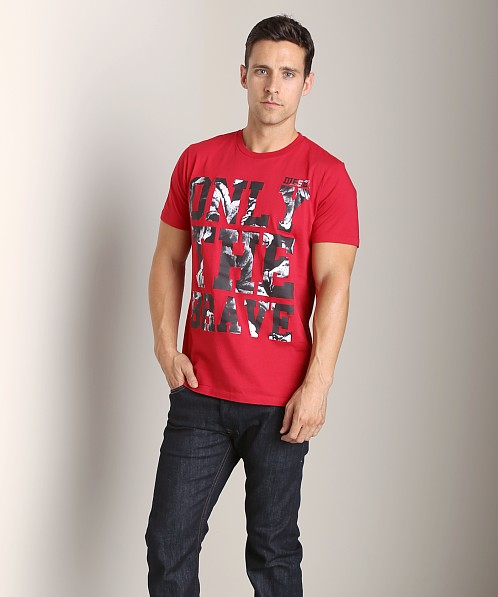 Diesel T-Burt T-Shirt Deep Red