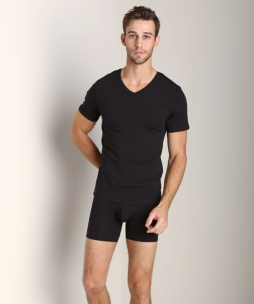 NKD Cotton Modal V-Neck T-Shirt Black
