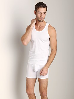 NKD Cotton Modal Tank Top White