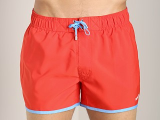2xist Color Block Jogger Swim Shorts Fiery Red/Azure