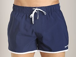 2xist Color Block Jogger Swim Shorts Varsity Navy/White