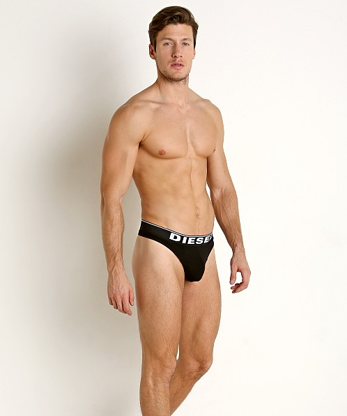 Diesel Solid String Thong Black