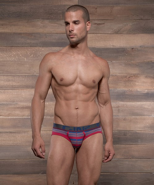 C-IN2 Pop Stripes Lo No Show Brief Extra Magenta