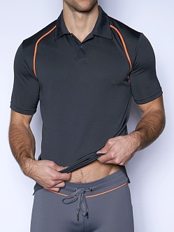 C-IN2 Grip Athletic Golf Polo Smoke