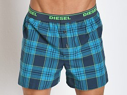 Diesel Plaid Luv Boxer Turquoise