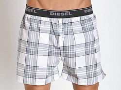 Diesel Plaid Luv Boxer Grey