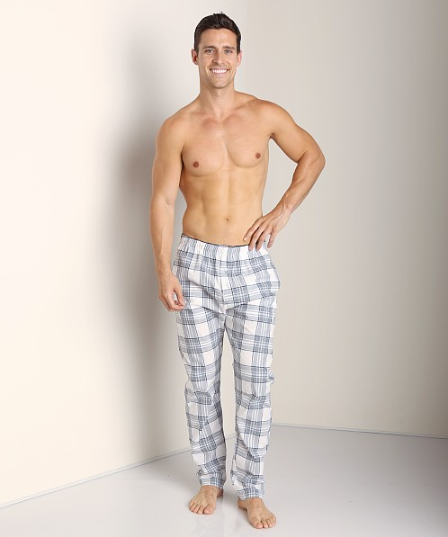 Diesel Workyboy Plaid Lounge Pants Grey