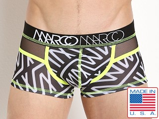 Marco Marco Andrew Mesh Panel Boxer Brief Logo Print