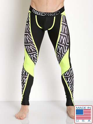 Marco Marco Murray Mesh Panel Leggings Logo Print