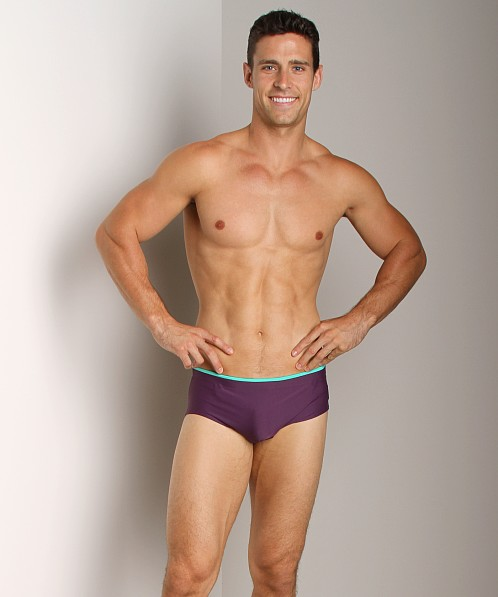 C-IN2 Matte Brazilian Square Cut Swim Brief Carbon Ink