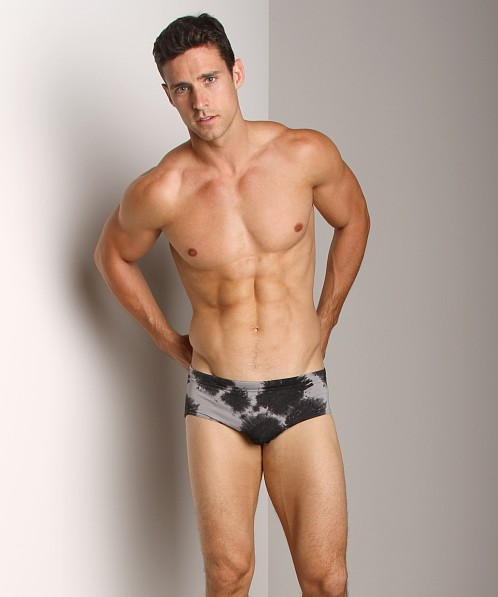 C-IN2 Blurr Brazilian Square Cut Swim Brief Leaden Grey