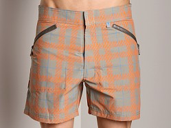 C-IN2 Plaid Cargo Shorts Leaden Grey Print
