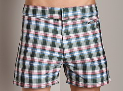 C-IN2 Plaid Cocktail Shorts Grey Print