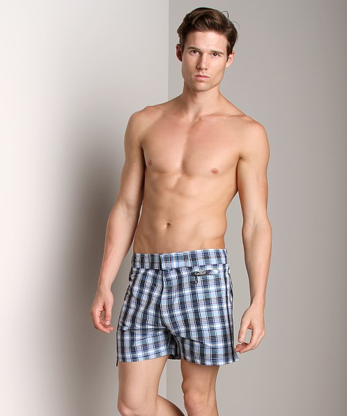 C-IN2 Plaid Cocktail Shorts Blue Print
